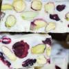 Witte chocolade fudge met cranberries 100 gram